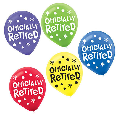 Officially Retired Printed Latex Balloons 15ct