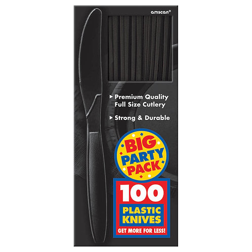 Black Value Plastic Knives 100ct