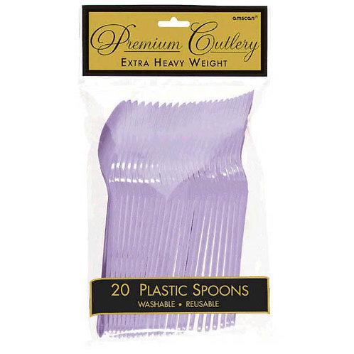 Lavender Plastic Spoons 20ct