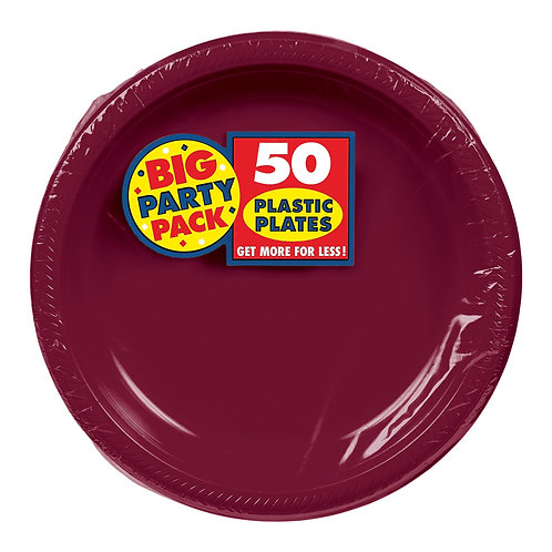 Berry 7in Plastic Plates 50ct