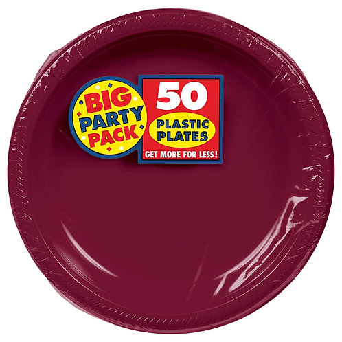 Berry 10in Plastic Plates 50ct