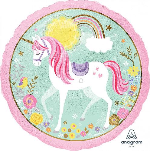 #406 Magical Unicorn 18in Balloon