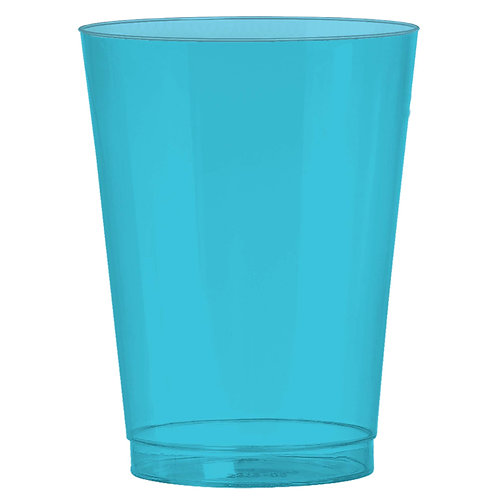 Caribbean Blue 10oz Plastic Cups 72ct