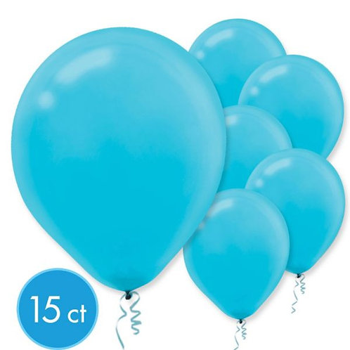 Caribbean Blue Latex Balloons - Packaged, 15ct