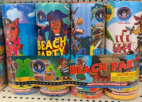 Beach Party Fireworks Fountain 4ct