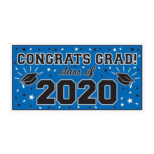 "2020 Grad Banner 65"" x 33 1/2"" - Blue"