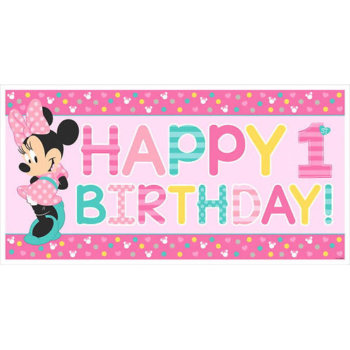 Minnie's Fun To Be One Horizontal Giant Sign Banner