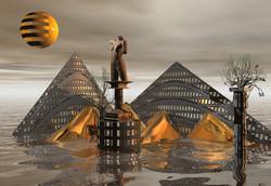 """Floating Pyramids"""