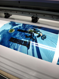 Printing the painting on film