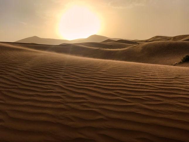 Sahara sunset Goldenhour
