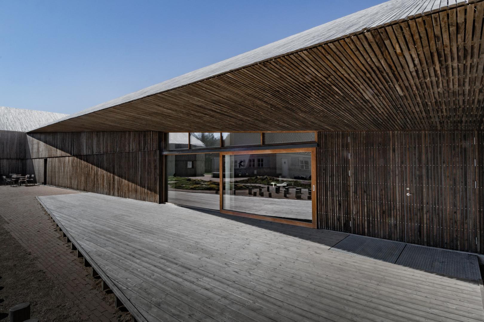Wadden Sea visitor centre, Wooden facade, Ribe, Denmark, by Dorte Mandrup