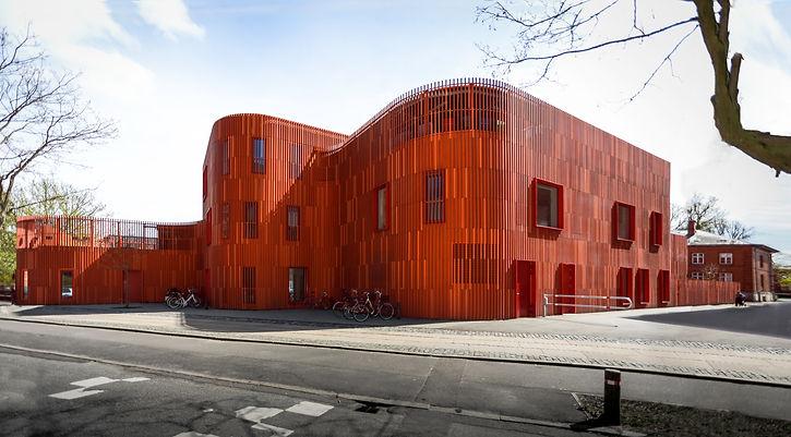 Kopenhagen Rode School voorkant structuu