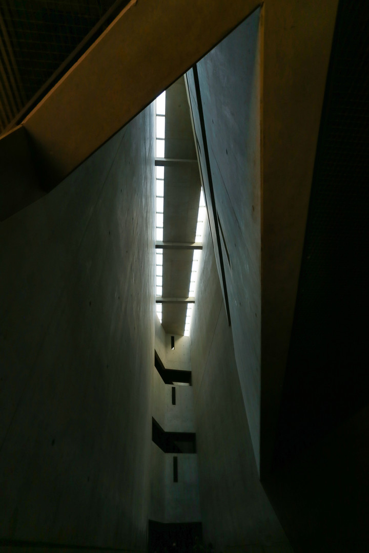 Jewish museum, Roof of Memory Void Room, Berlin. By Daniel Libeskind