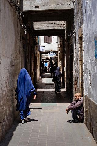 Alley Essaouira Homeless man