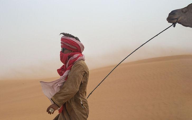 Camel man Sahara