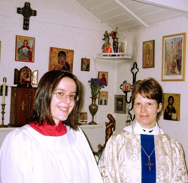 Mary Magdalene Day 2005 after Mass in ou