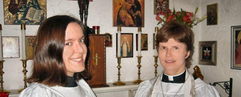 04 , Amber and me in Our Home Chapel af