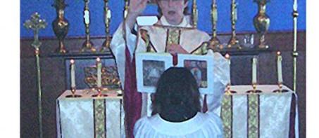 Benediction after Anniversary Mass 2003.