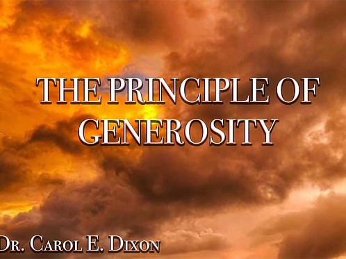 The Principle of Generosity