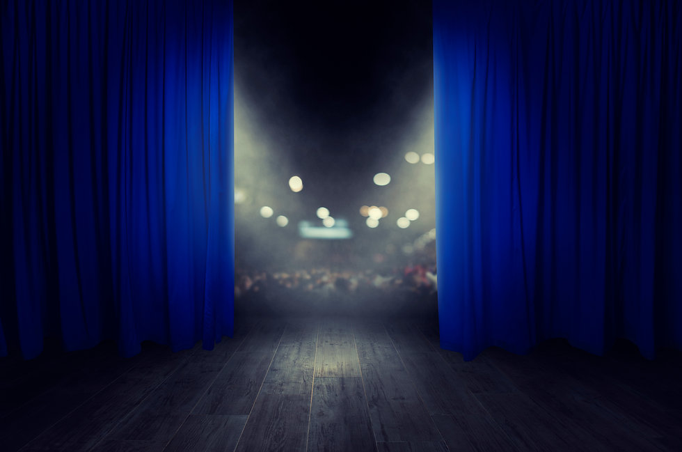 The blue curtains are opening for the th