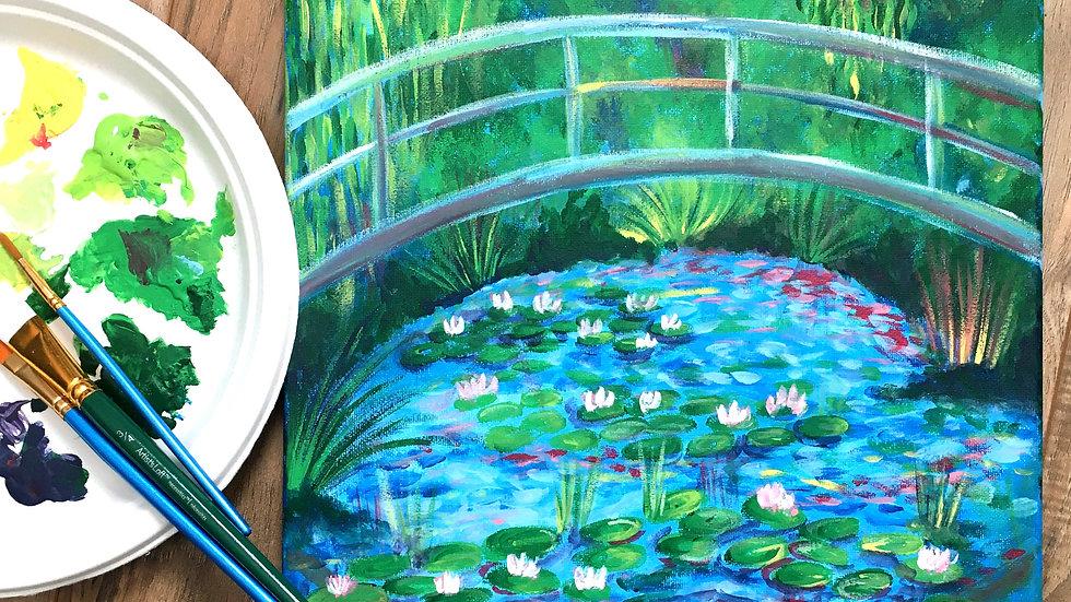 THURSDAYS - Monet Inspired Acrylic Landscape Painting