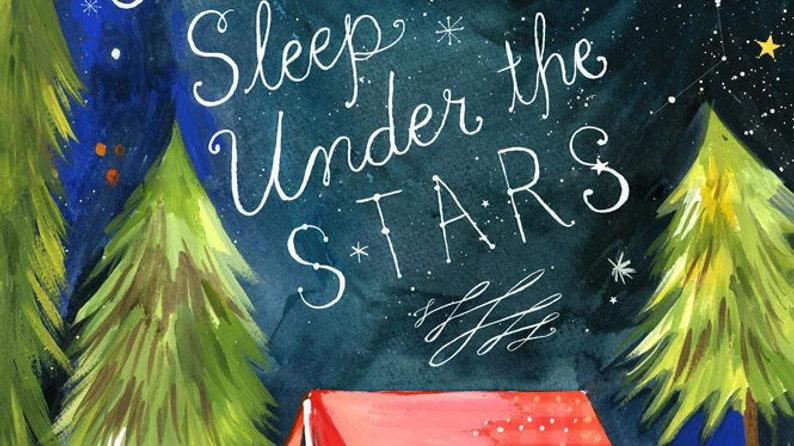 TUESDAYS - Sleep Under the Stars - Mixed Media