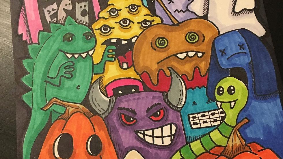 Graffiti-Style Doodle Drawings