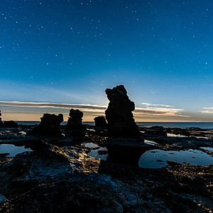 Sea Scapes in the Night