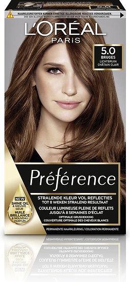 L'Oreal preference licht bruin 5.0