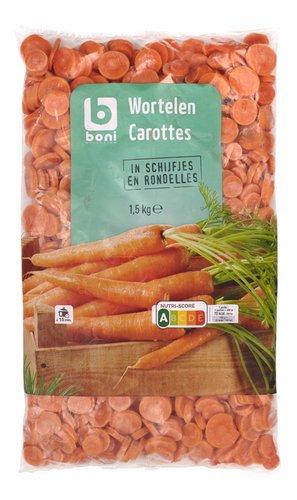 Boni wortelen in schijfjes 1.5 kg