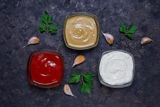 homemade-ketchup-mustard-mayonnaise-sauc