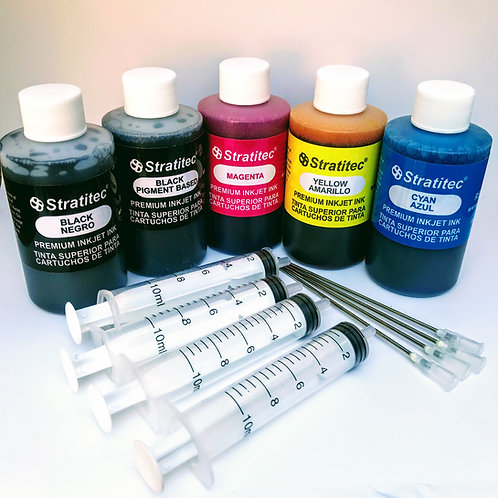 Pigment & Dye Black Color Combo Kit w/Filling Supplies