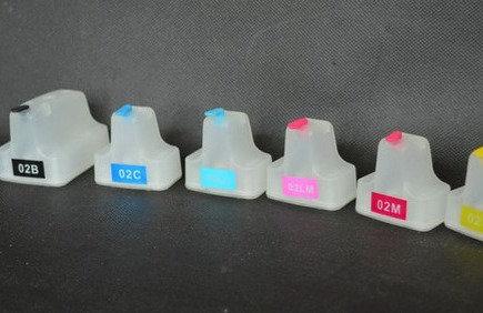 HP 02  Compatible Six-Color Refillable Cartridge Set