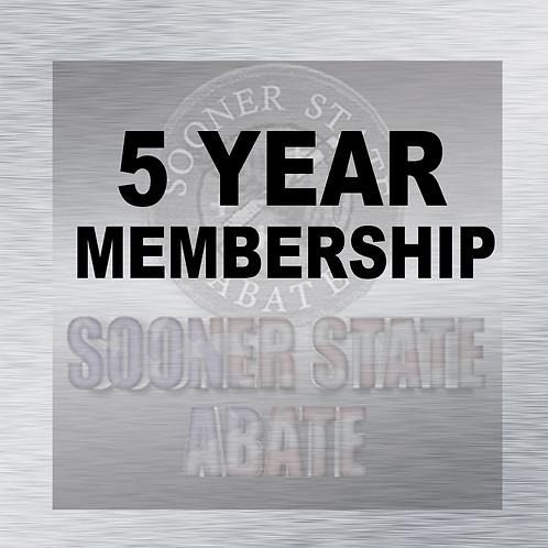 Renewal of 5 Year Membership