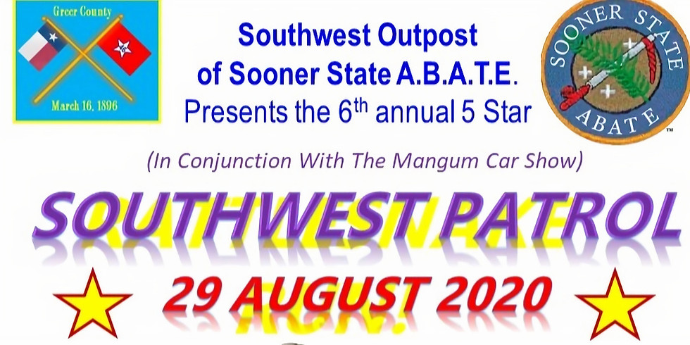Cancelled due to COVID --Southwest Patrol