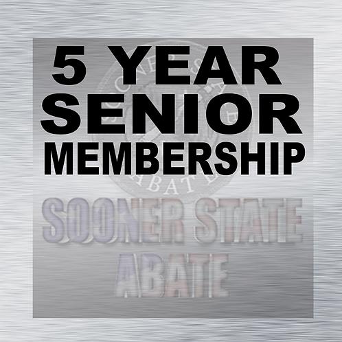5 Year Senior Membership
