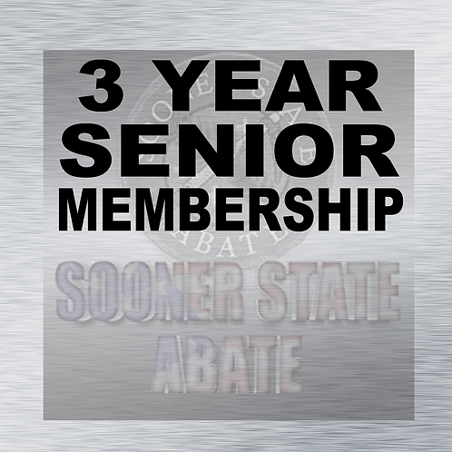 Renewal of 3 Year Senior Membership