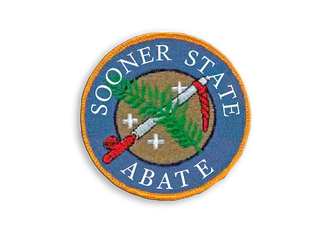 4 Inch Sooner State ABATE Patch