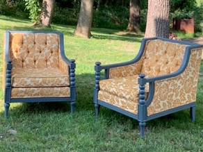 My newest find on Marketplace: Vintage Midcentury Modern club chairs