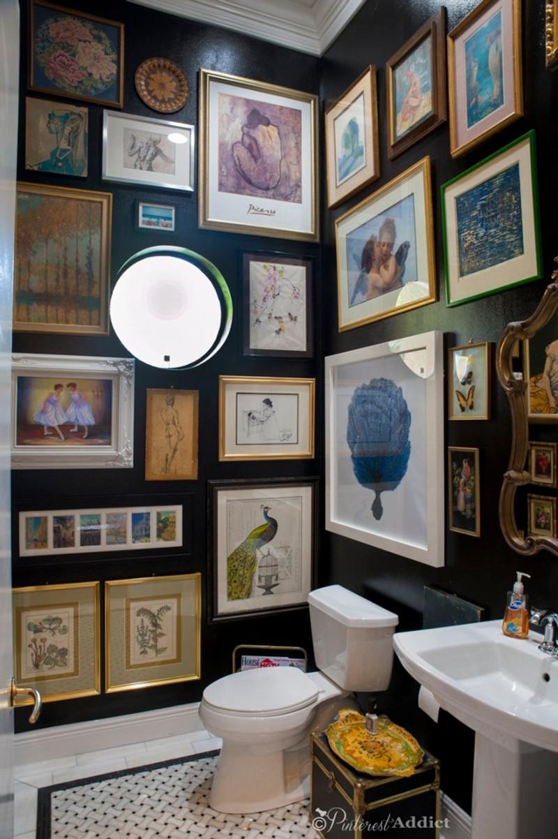 black-bathroom-artwork-pinterest-addict