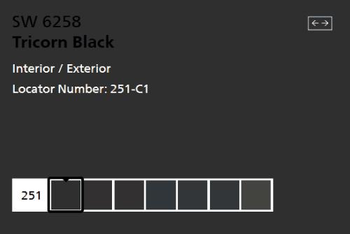 Sherwin-Williams-Tricorn-Black-SW-6258