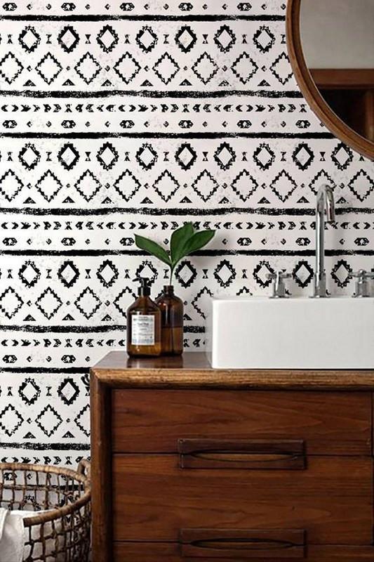 13-bold-wallpaper-ideas-for-your-powder-room-powder-room-wallpaper-white-and-black-mudcloth-wallpaper-58346dbb3b2565083ae9033c-w620_h800