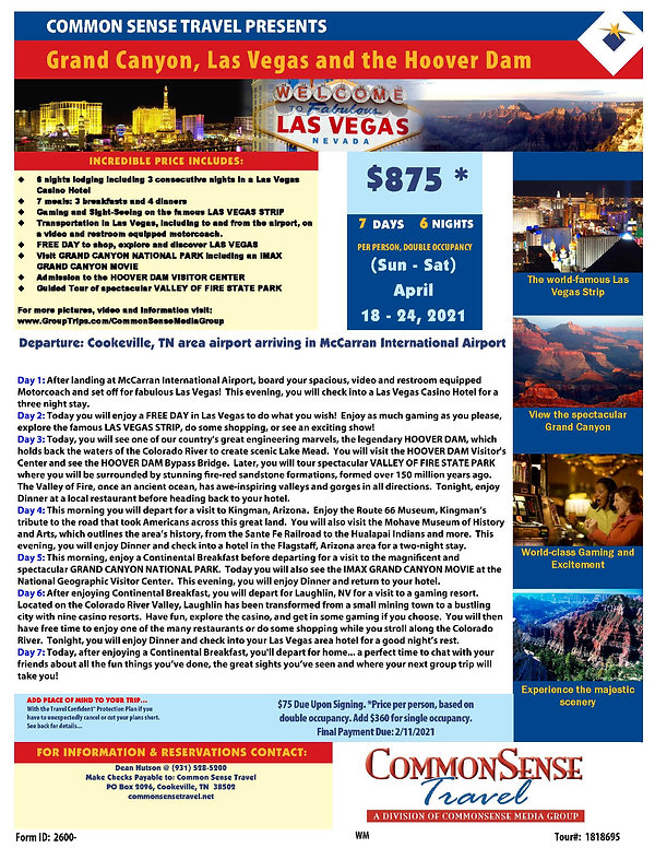 Grand Canyon, Las Vegas and the Hoover D
