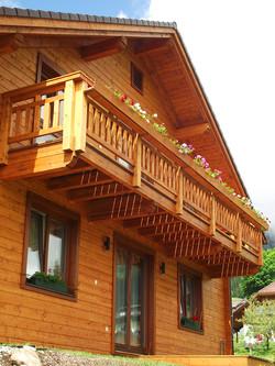 Das Haus Edelgrün im Sommer