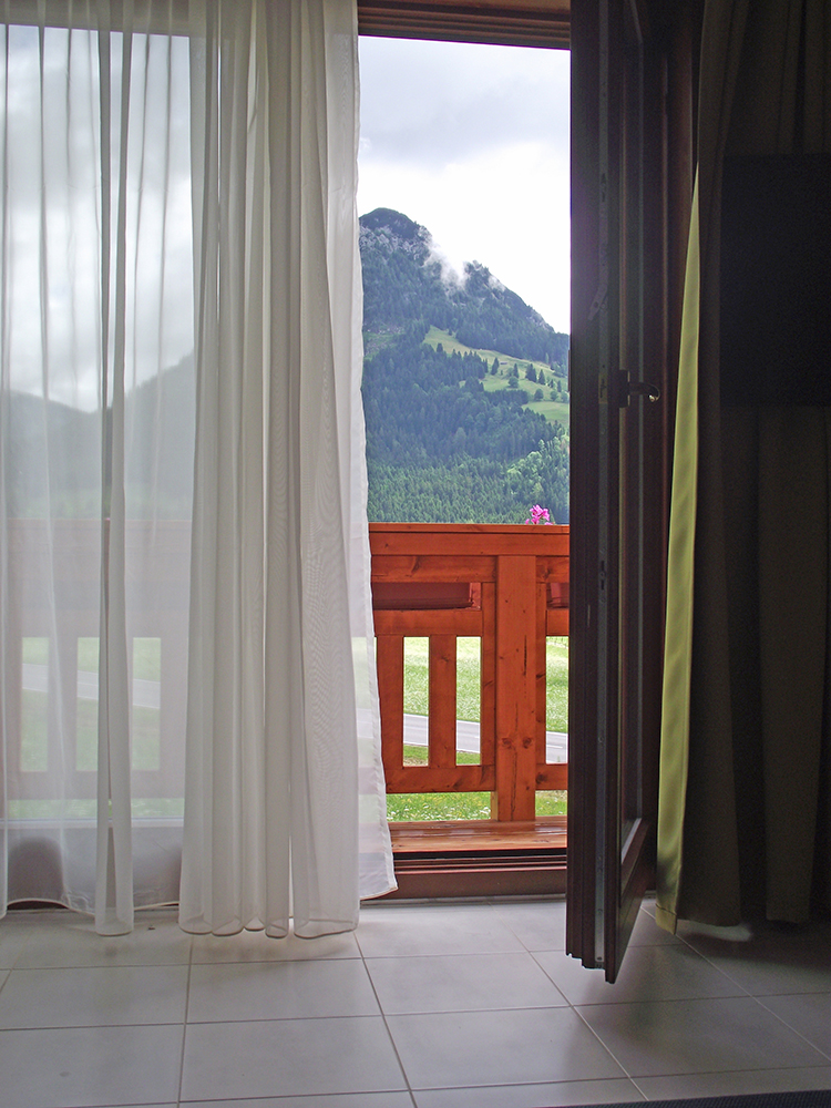 Blick aus der Ferienwohnung Enzian