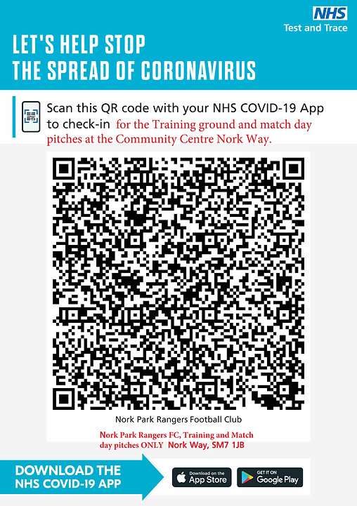 NHS TRACK AND TRACE QR CODE FOR ALL COMM