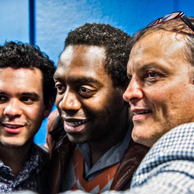 With Yosvany Terry, and Alexis Bosh at Symphony Space NYC, May 2015