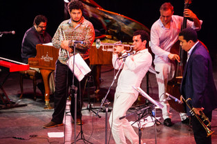 With Arturo O'Farrill, Adam O'Farrill, Gregg August, and Jesús Ricardo,  Havana December 2013