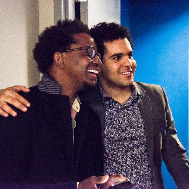 With Francisco Mela at Symphony Space NYC,  May 2015