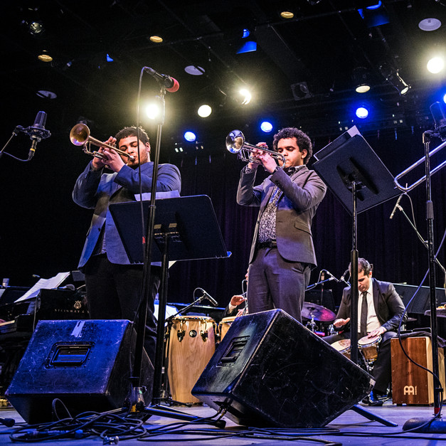 With Adam O'Farrill, Carlos _Carly_ Maldonado, and Rafi Malkiel.  Symphony Space NYC.  May 2015